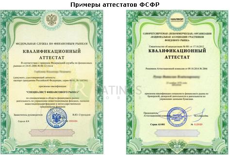 Примеры лицензий ФСФР